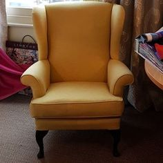 Fabric Gallery | Knickerbean Wingback Chair, Accent Chairs, Gallery, Fabric, Furniture, Home Decor, Upholstered Chairs, Tejido, Tela