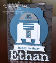 Rose's World: R2D2 birthday card!