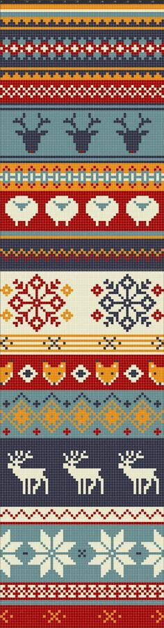 I can see doing any part of this as a border on something...especially fingerless mitts! What a scarf this would be!: