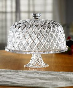 Take a look at this Crystal Fifth Avenue Cake Pedestal & Dome by Jay Import on #zulily today!