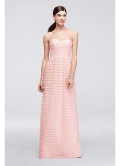 b1051646e8 Long Pink Soft   Flowy Cheers Cynthia Rowley Bridesmaid Dress Davids Bridal  Bridesmaid
