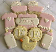 One Dozen 12 Welcome Baby / Baby Shower Decorated by DolceDesserts, $38.00