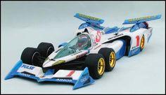 'ν-Asurada AKF-0/G' (Team Sugo Asurada) from Japanese animation 'Future GPX Cyber Formula'. Body parts set made by Chevron Models, suitable for Tamiya 'Tyrrell P34 Six Wheeler' chassis or F103RM chassis (also need the 6 Wheeler conversion kit by Chevron Models).