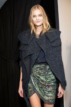 Isabel Marant Fall 2014 - Backstage