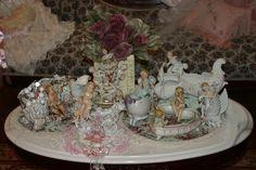 collection of porcelain cherubs
