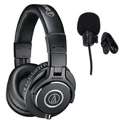 Audio-Technica ATH-M40x Professional Studio Monitor Headphones Deluxe Bundle Audio-Technica