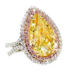 Beautiful Fancy Yell beauty bling jewelry fashion