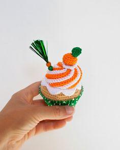 Orange Crochet cupcake 27 Summer collection от IamaMess на Etsy