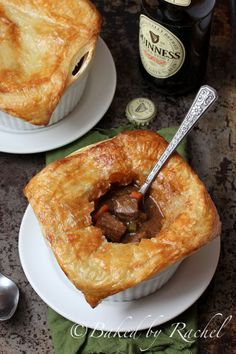 Beef and Guinness Pies with Puff Pastry Recipe - bakedbyrachel.com