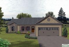 Bungalow Country House Plan 92425