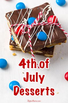 Easy desserts for the 4th of July help welcome in the summertime with laid-back outdoor activities and they will delight your family and guests. These desserts are dressed up for the 4th of July, however, they can be served anytime. They are so easy and refreshing you will enjoy them all summer. Step by Step recipes... #kippiathome #summerdesserts #4thofjuly Fudge Recipes, Easy Cake Recipes, Sweets Recipes, Recipes Dinner, Drink Recipes, Bread Recipes, Soup Recipes, Cookie Recipes, Healthy Recipes