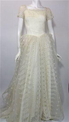 50s wedding dress vintage wedding dress