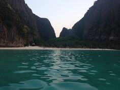 "Maya bay thailand where they filmed ""the beach"""