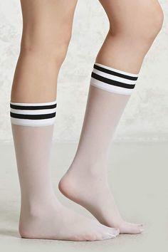 Product Name:Sheer Varsity Crew Socks, Category:ACC, Price:1.95