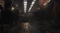 Warehouse interior, Bobby Rice on ArtStation at https://www.artstation.com/artwork/warehouse-interior-65d8179c-e260-4d2c-bf18-661a6c7f51a7