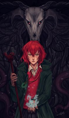 I decided to re-upload my older Chise with Elias to see them next to Sophie and Howl. beauties and beasts :) . also I corrected the neck which is really bugging me . Final Fantasy, Manga Anime, Anime Art, Elias Ainsworth, Chise Hatori, The Ancient Magus Bride, Castle In The Sky, Dark Thoughts, Kaichou Wa Maid Sama