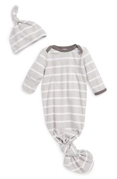 Nordstrom Cotton Baby Gown & Hat (Baby Girls) | Nordstrom