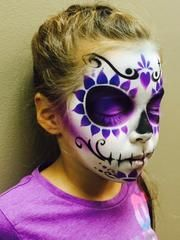 Product Info Still in time for those weekend Halloween events. Sugar Skulls are the craze, add Sugar Kisses to your face painting stencils and create other designs from this! Faces come in many shapes