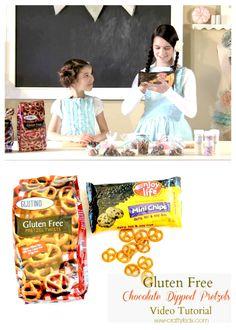 Gluten Free Chocolate Dipped Pretzels, Video Tutorial - Sew-Crafty Kids