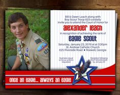 Eagle Scout Court of Honor Invitation: Journey by DigileachDesigns