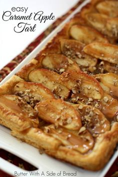 Easy Caramel Apple Tart~ so easy and gorgeous- #recipe from Butter With A Side of Bread #apples