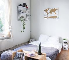 Great idea! - Use KASSETT boxes as bedside tables if you have a low bed | See more of Hannelore's apartment at auxpaysdesmerveilles.wordpress.com and in IKEA FAMILY live magazine