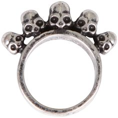 Gathering Eye 5 Skull Ring ($11) ❤ liked on Polyvore featuring jewelry, rings, accessories, anillos, skull head ring, skull ring, skull jewelry and skull jewellery