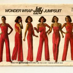 A Jumpsuit Pattern with 6 Wrap and Tie Variations - Vintage 1977