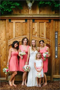 different style peach bridesmaid dresses | CHECK OUT MORE IDEAS AT WEDDINGPINS.NET | #bridesmaids