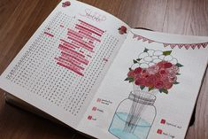 March sleep log and mood tracker | Rose theme | bullet journal