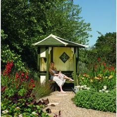Rowlinson Haven Corner Arbour Natural | Wickes.co.uk