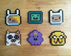 Adventure Time Perler Bead Earrings by KungFuse on Etsy