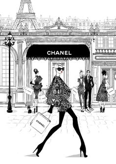 Megan Hess' Paris-inspired fashion illustrations