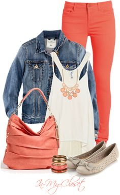 """Pretty In Peach"" by in-my-closet on Polyvore"