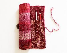 Strawberry Pencil Wrap Red and Pink Pencil Roll  by StripyKite, £24.00
