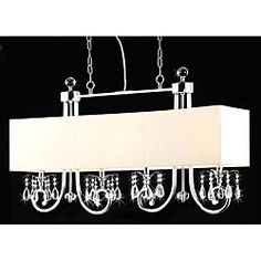 4-light Beige Shade Crystal Chandelier $208