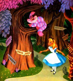 *THE CHESHIRE CAT & ALICE ~ Alice in Wonderland