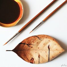 pintor usa café para pintar e desenhar - Ghidaq Nizar