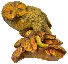 Vintage owl wall sculpture.