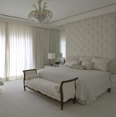 All is white but I liked it. Bedroom Bed Design, Girl Bedroom Designs, Girls Bedroom, Master Bedrooms, Beautiful Bedroom Designs, Beautiful Bedrooms, New Room, Decoration, New Homes