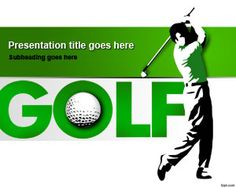 Free Sport Golf Swing Powerpoint Template With Nice Golf Player