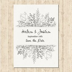 Free vector hand drawn wedding invitation - Weddings - Dresses, Engagement Rings, and Ideas! Floral Invitation, Invitation Design, Invitation Cards, Invitation Envelopes, Invitation Wording, Invitation Ideas, Invitation Templates, Photo Wedding Invitations, Wedding Stationery