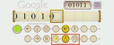 So funktioniert das Alan Turing Google Doodle. Google Doodles, Alan Turing, Landing Pages, Tutorials