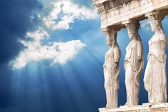 Goddesses watch over Athens from the Athena Nike Temple