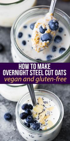 How to make overnight steel cut oats with no cooking required! Vegan and gluten free, with just 4 ingredients required and ready in just 5 minutes of meal prep. #sweetpeasandsaffron #mealprep #breakfast #steelcutoats #dairyfree #vegan #glutenfree #weekdaybreakfast #howto Best Breakfast Recipes, Protein Breakfast, Homemade Breakfast, Breakfast Ideas, Vegetarian Meal Prep, Lunch Meal Prep, Slow Cooker Freezer Meals, Slow Cooker Recipes, Steel Cut Oats