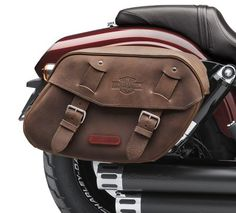 Distressed Brown Leather Saddlebags-88348-10