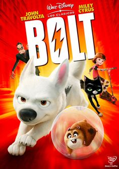 Bolt on DVD from Disney / Buena Vista. Directed by Byron Howard. Staring John Travolta, Miley Cyrus, Nick Swardson and Randy Savage. More Comedy, Family and Animals & Nature DVDs available @ DVD Empire. Walt Disney, Disney Films, Disney Cinema, Disney Dvd, Disney Family, All Movies, Movies To Watch, Movies Online, Movie Tv