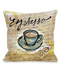 Look what I found on #zulily! Espresso Accent Pillow #zulilyfinds