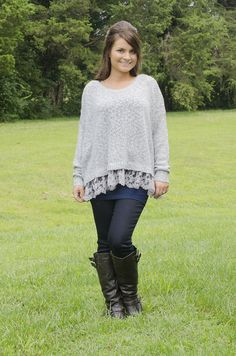 Oakleigh Rose - A Little Lace Sweater, $33.00 (http://www.oakleighrosestyle.com/a-little-lace-sweater/)