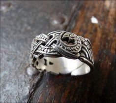 Viking ring- Norse mythology- ravens. I am drawn to this artwork.
